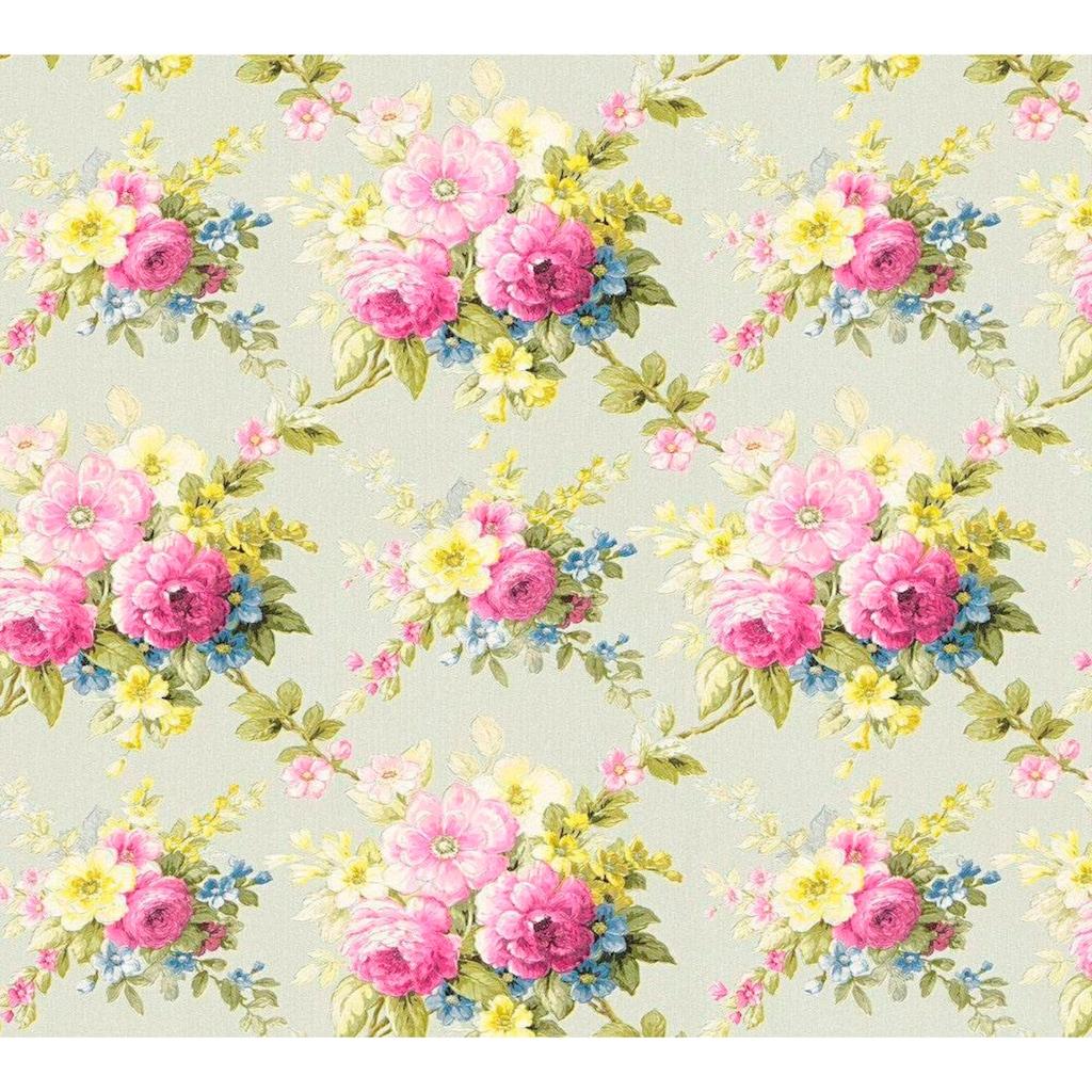 living walls Vliestapete »Château«, floral-geblümt, mit Rosen, romantisch