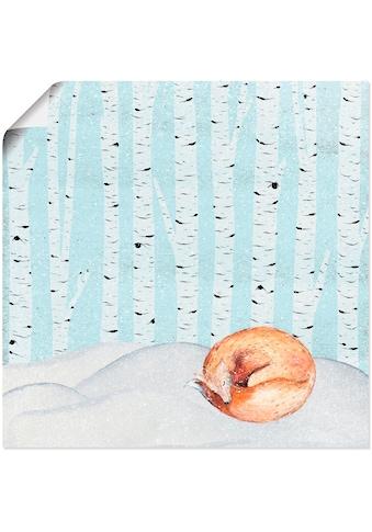 Artland Wandbild »Winter Wunderland Schlafender Fuchs«, Tiere, (1 St.), in vielen... kaufen