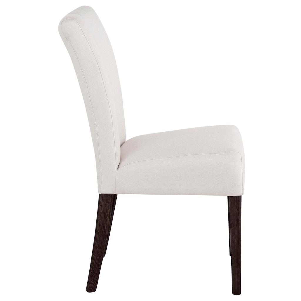 Home affaire Stuhl »Queen«, Beine aus massiver Buche, wengefarben lackiert