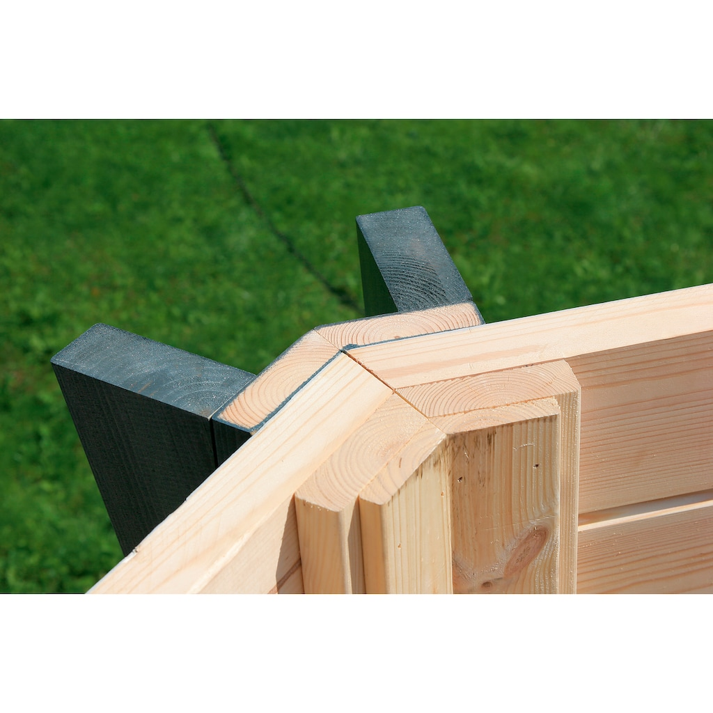 Wolff Holzpavillon »Capri 3.5«, (Set), BxT: 430x430 cm, mit Dachschindeln und Fußboden