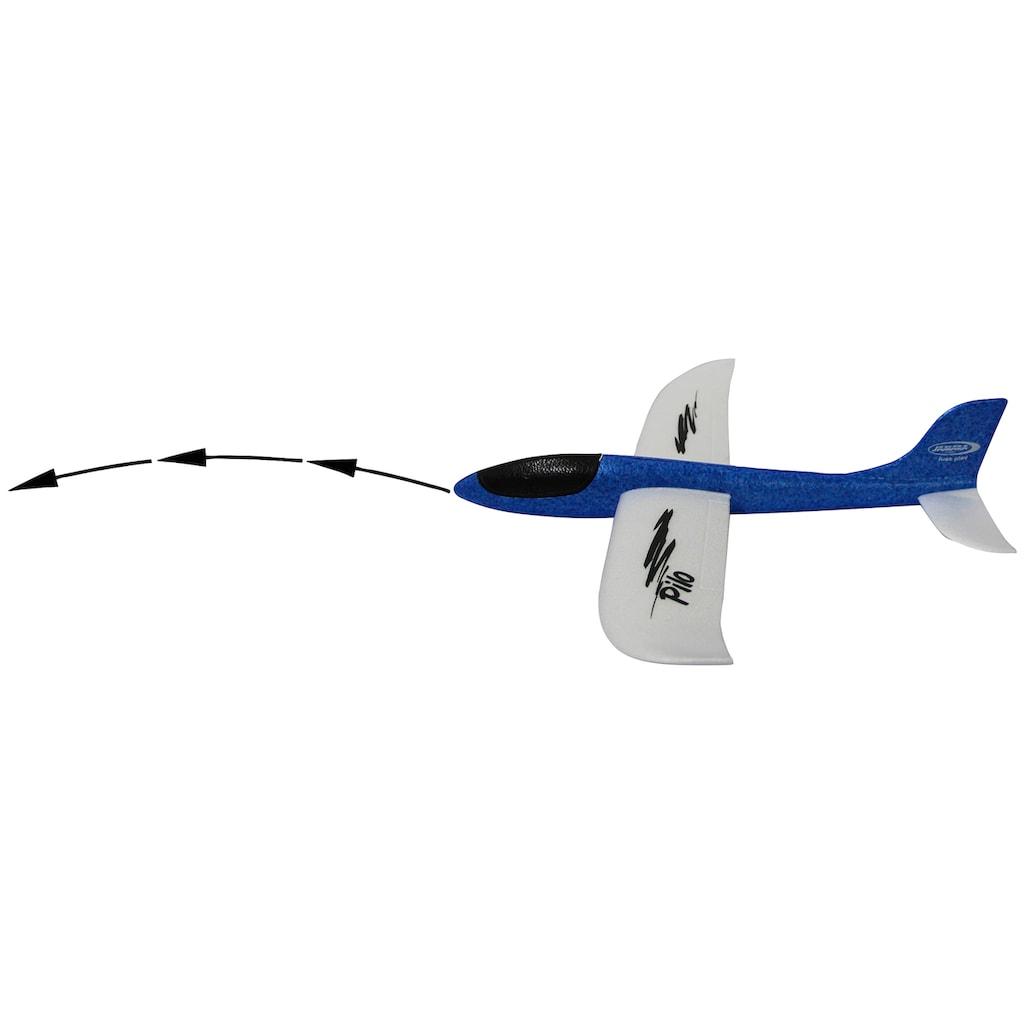 Jamara Spielzeug-Flugzeug »Pilo Schaumwurfgleiter EPP«, Tragfläche weiss Rumpf blau
