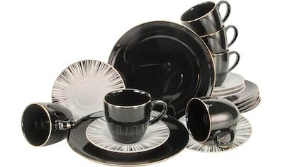 """CreaTable Kaffeeservice """"Enjoy Black Style"""" (18 - tlg.), Porzellan kaufen"""