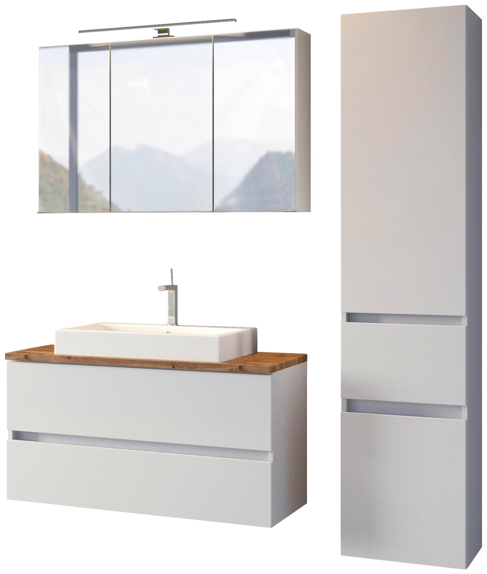 HELD MÖBEL Waschtisch-Set, (3 tlg.), mit Softclose-Funktion weiß Waschtische Badmöbel Waschtisch-Set