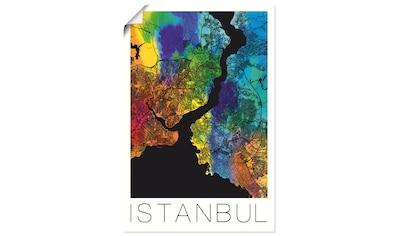 Artland Wandbild »Retro Karte Istanbul«, Landkarten, (1 St.), in vielen Größen & Produktarten - Alubild / Outdoorbild für den Außenbereich, Leinwandbild, Poster, Wandaufkleber / Wandtattoo auch für Badezimmer geeignet kaufen
