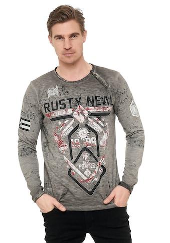 Rusty Neal Langarmshirt, mit hochwertigem Print kaufen