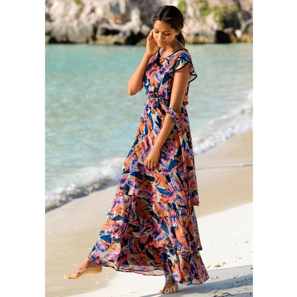 Alba Moda Strandkleid mit Volants