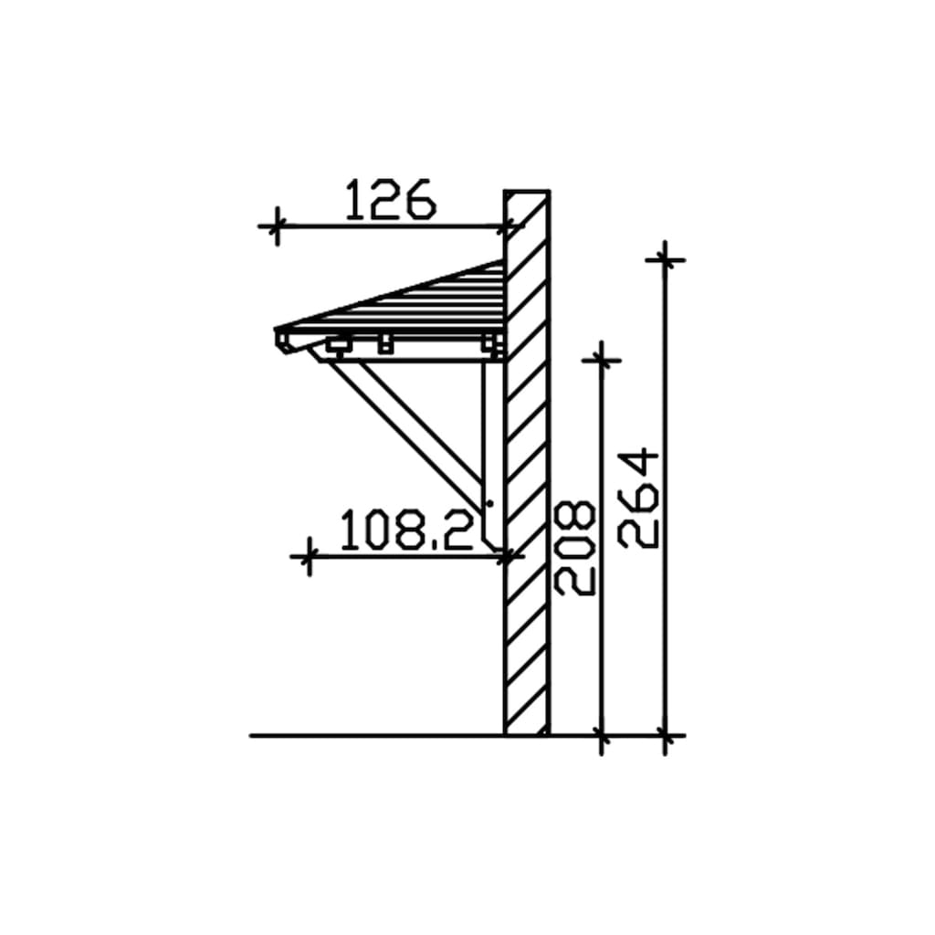 Skanholz Vordach »Wismar 1«, BxTxH: 258x126x264 cm