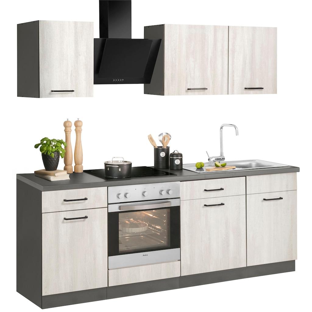 wiho Küchen Küchenzeile »Esbo«, ohne E-Geräte, Breite 220 cm