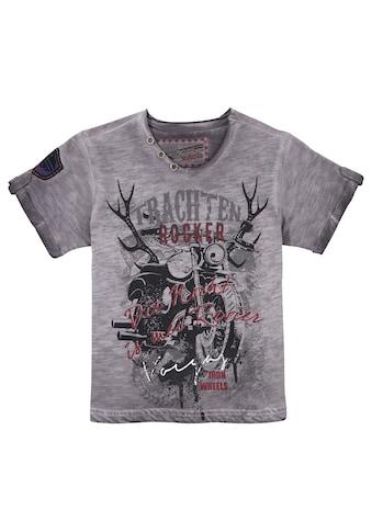 Andreas Gabalier Kollektion Trachtenshirt, Kinder mit rockigem Printmotiv kaufen