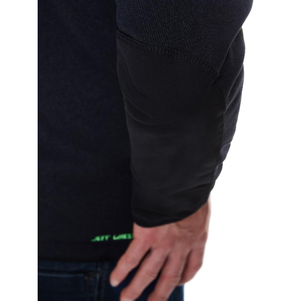 Jeff Green Kapuzenfleecejacke »Nate«, Cordura-Verstärkung am unteren Armbereich