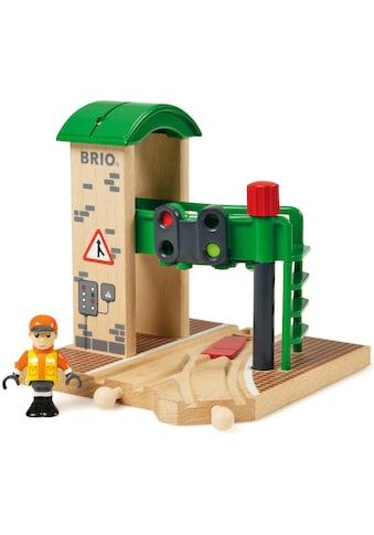 BRIO® Spielzeugeisenbahn-Gebäude »BRIO® WORLD Signal Station«, FSC®-Holz aus... kaufen