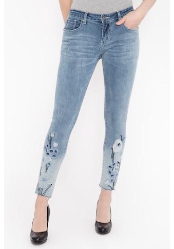 Blue Monkey Slim-fit-Jeans »Honey 7114«, mit aufwändiger Stickerei am Saum kaufen