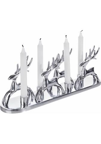Home affaire Kerzenständer »Rentiere«, Handarbeit kaufen