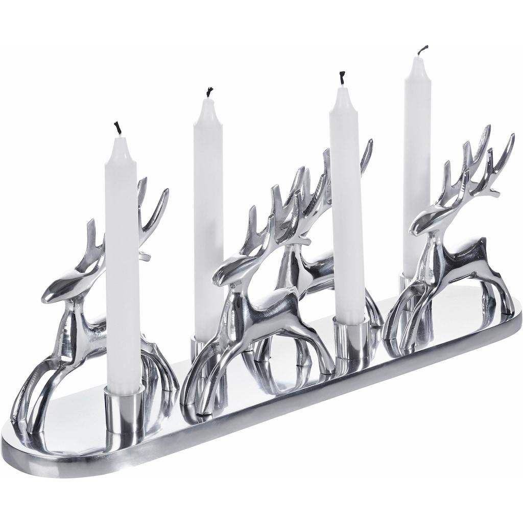 Home affaire Kerzenständer »Rentiere«, Handarbeit