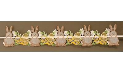 Stickereien Plauen Scheibengardine »Osterhasen« kaufen
