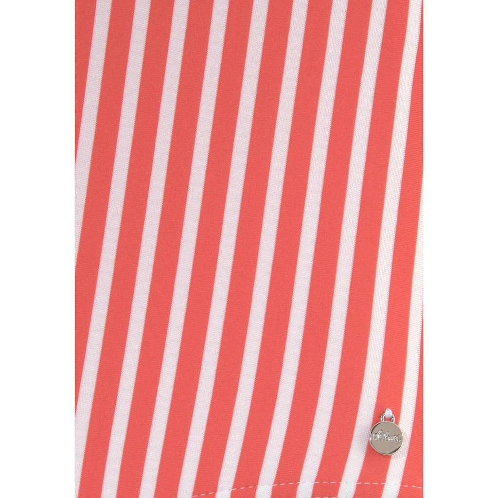 s.Oliver Beachwear Badeanzug, aus Seersucker-Qualität