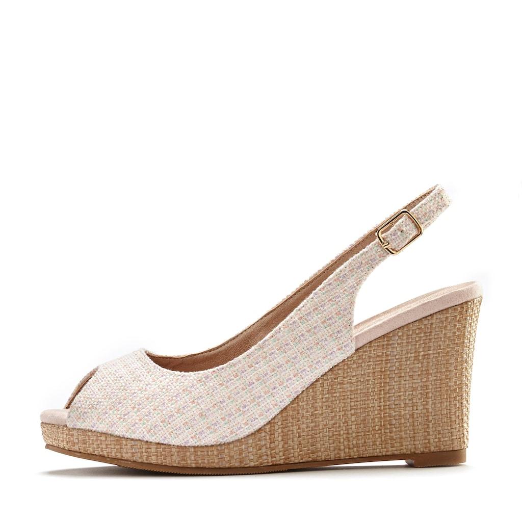 LASCANA High-Heel-Sandalette, mit Keilabsatz