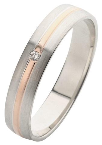 Firetti Trauring mit Gravur »glanz, längs gebürstet, Diamantschnitt, bicolor, 4,0 mm... kaufen