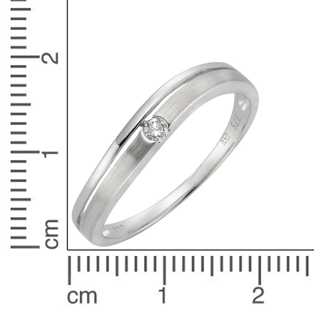 Diamonds by Ellen K. Fingerring »375/- Weißgold Brillant 0,06ct.«, Ring