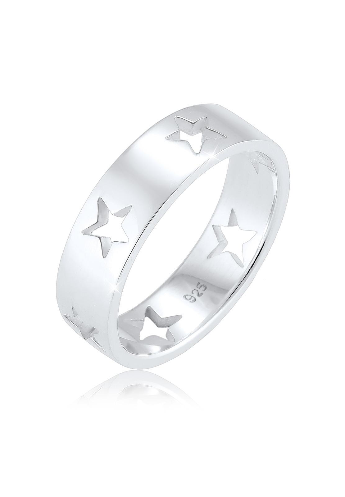 Elli Fingerring Sterne Astro Cut Out Bandring 925 Sterling Silber | Schmuck > Ringe > Fingerringe | Elli