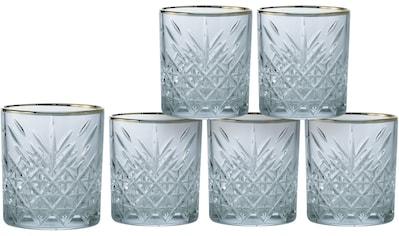 Leonique Whiskyglas »Orne«, (Set, 6 tlg.), mit ausdrucksstarkem Relief und Goldrand,... kaufen