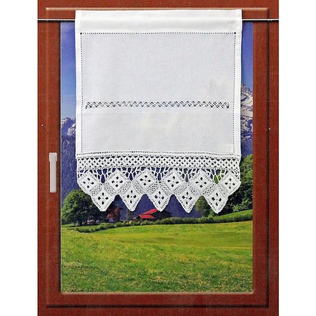 Scheibengardine, »BALDO«, HOSSNER - ART OF HOME DECO, Stangendurchzug 1 Stück