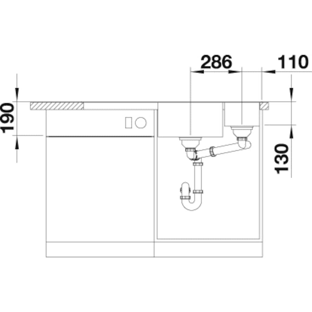 Blanco Granitspüle »AXIA III 6 S«, aus SILGRANIT®