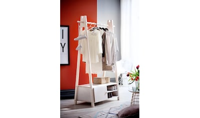 Home affaire Garderobenständer »Ward«, aus massivem weiß lackiertem Fichtenholz, Höhe... kaufen