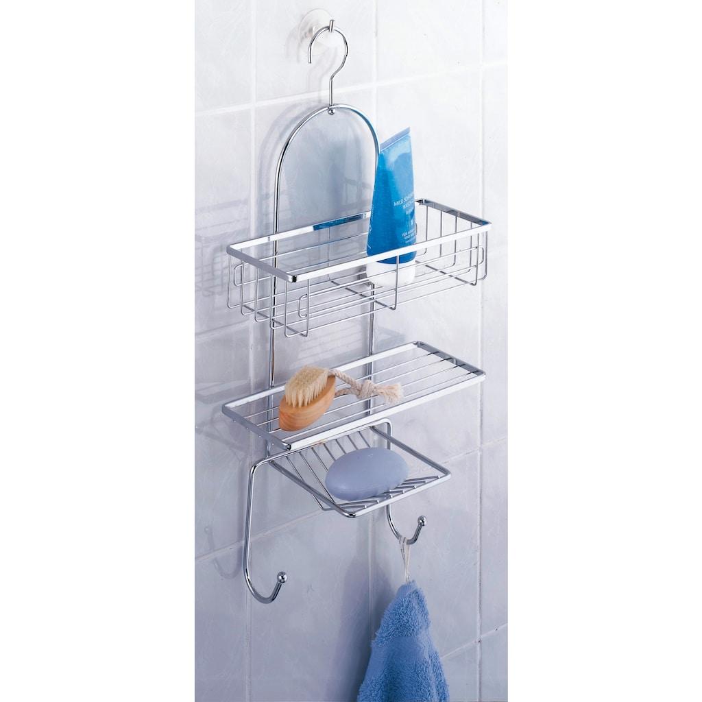 WENKO Duschablage »Ragusa«, mit 2 Haken und Seifenablage