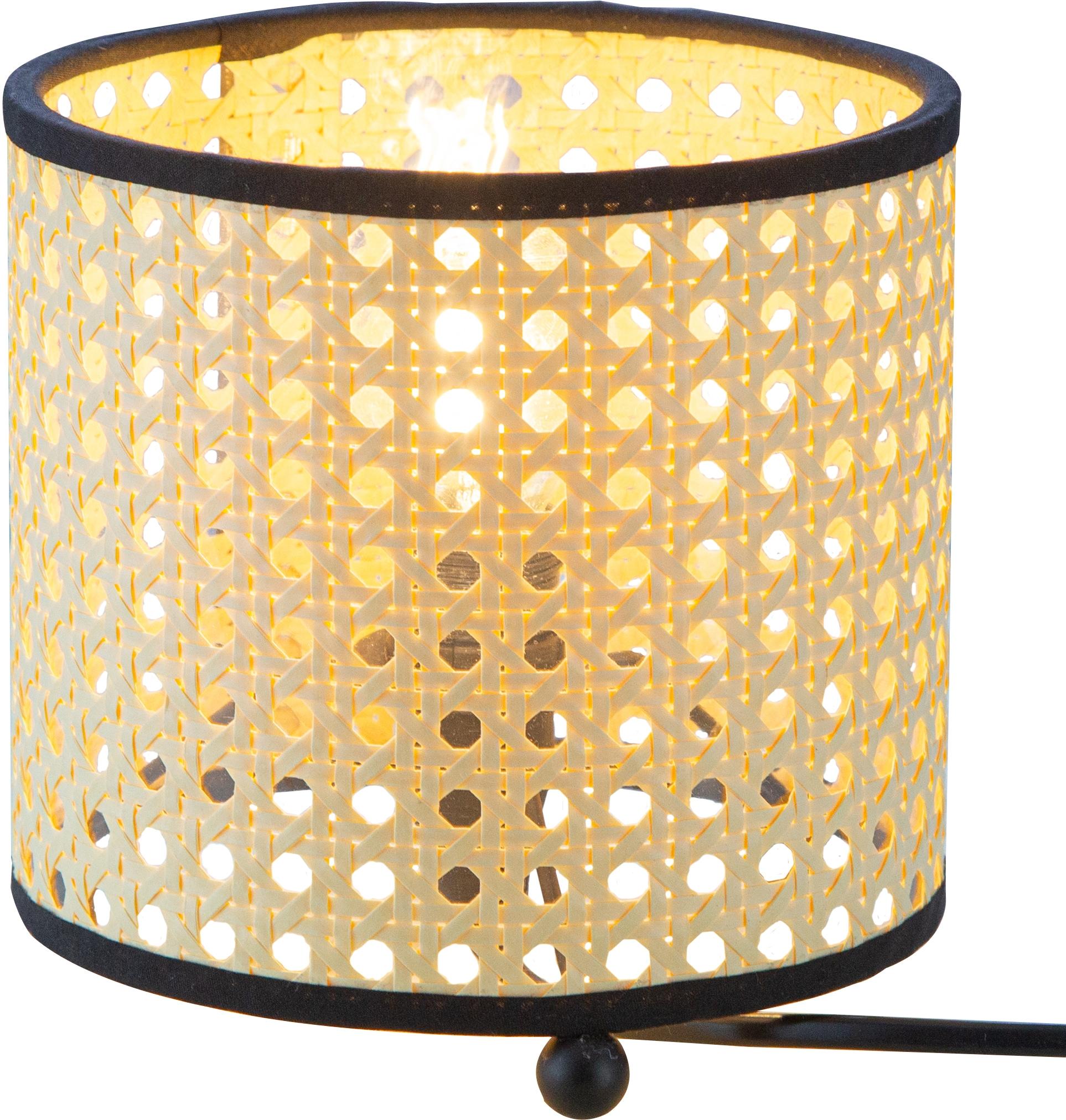 Nino Leuchten Tischleuchte LU, E14, 1 St., Tischlampe, Wiener Geflecht