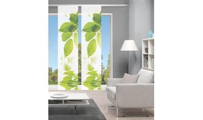 Vision Schiebegardine »LEFANO 2er SET«, Bambus-Optik, Digital bedruckt kaufen