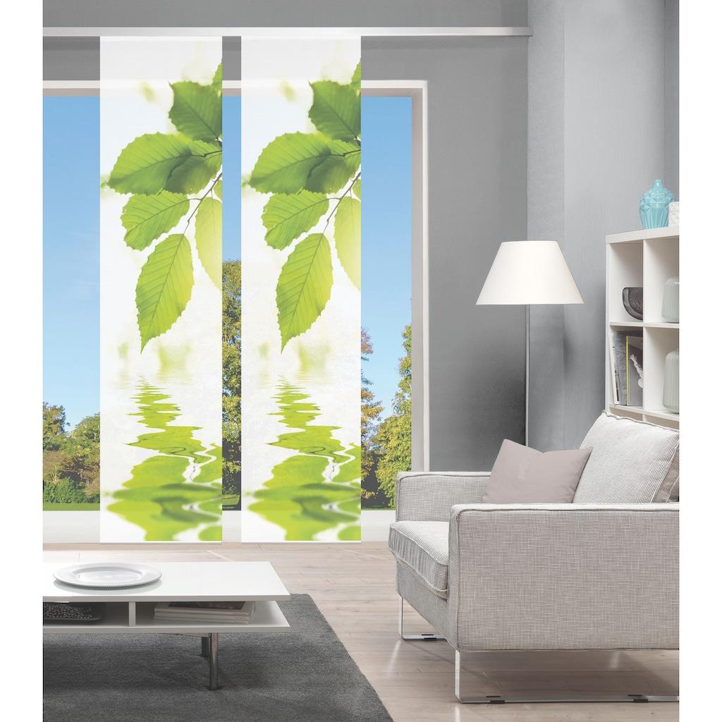 Vision Schiebegardine »LEFANO 2er SET«, Bambus-Optik, Digital bedruckt