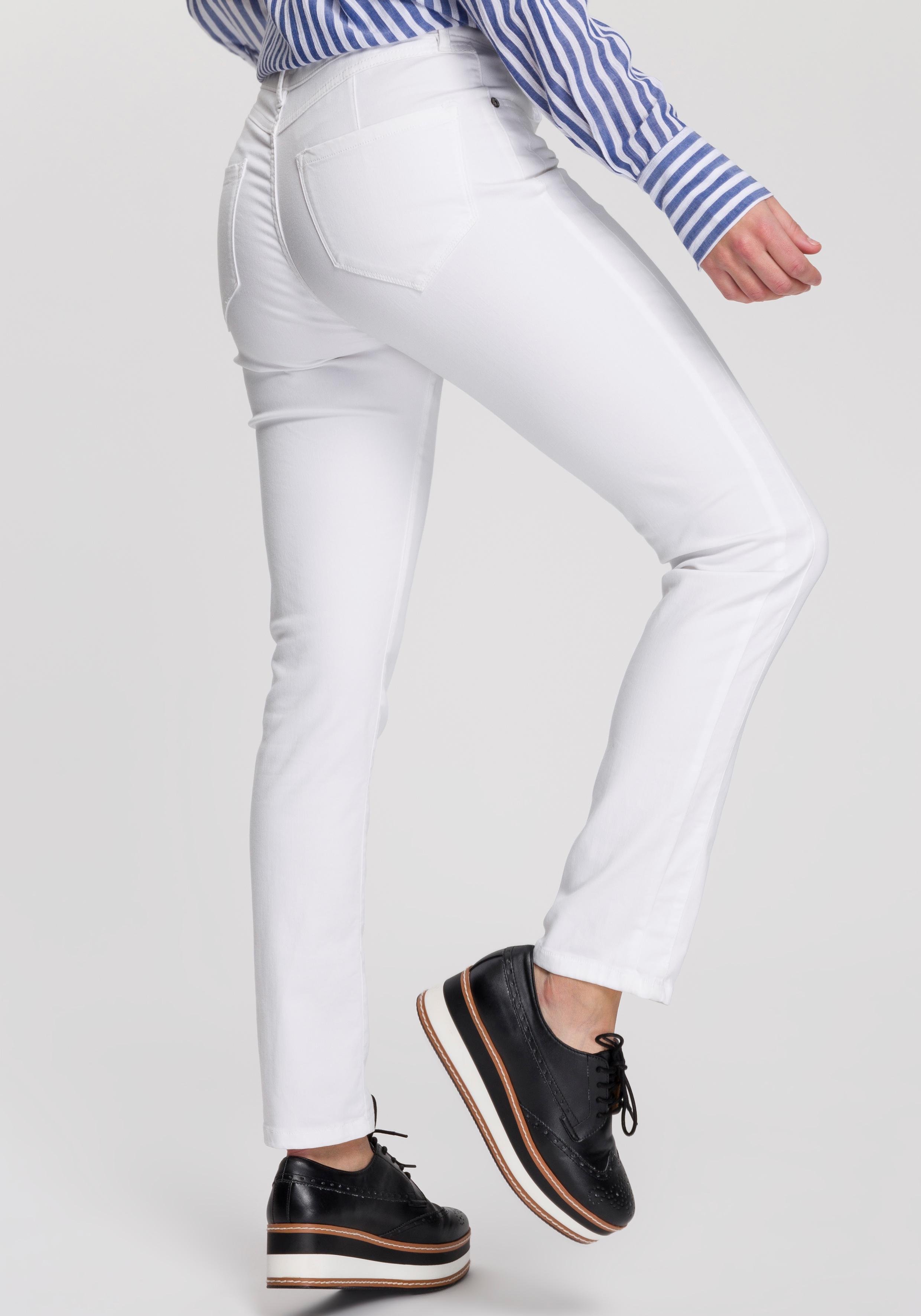 OPUS Röhrenhose Emily | Bekleidung > Hosen > Röhrenhosen | Weiß | Opus