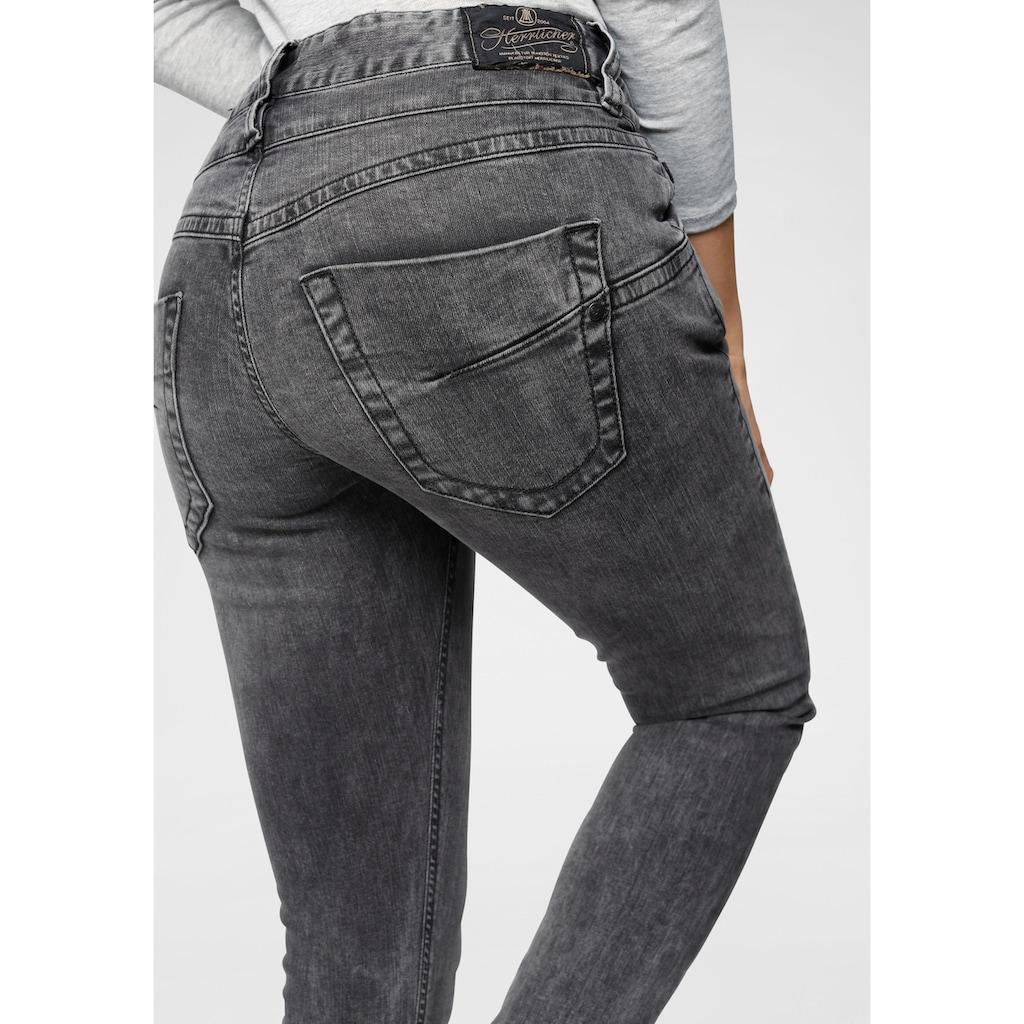 Herrlicher Boyfriend-Jeans »BIJOU«, mit extra breitem Bund und Doppelknopf