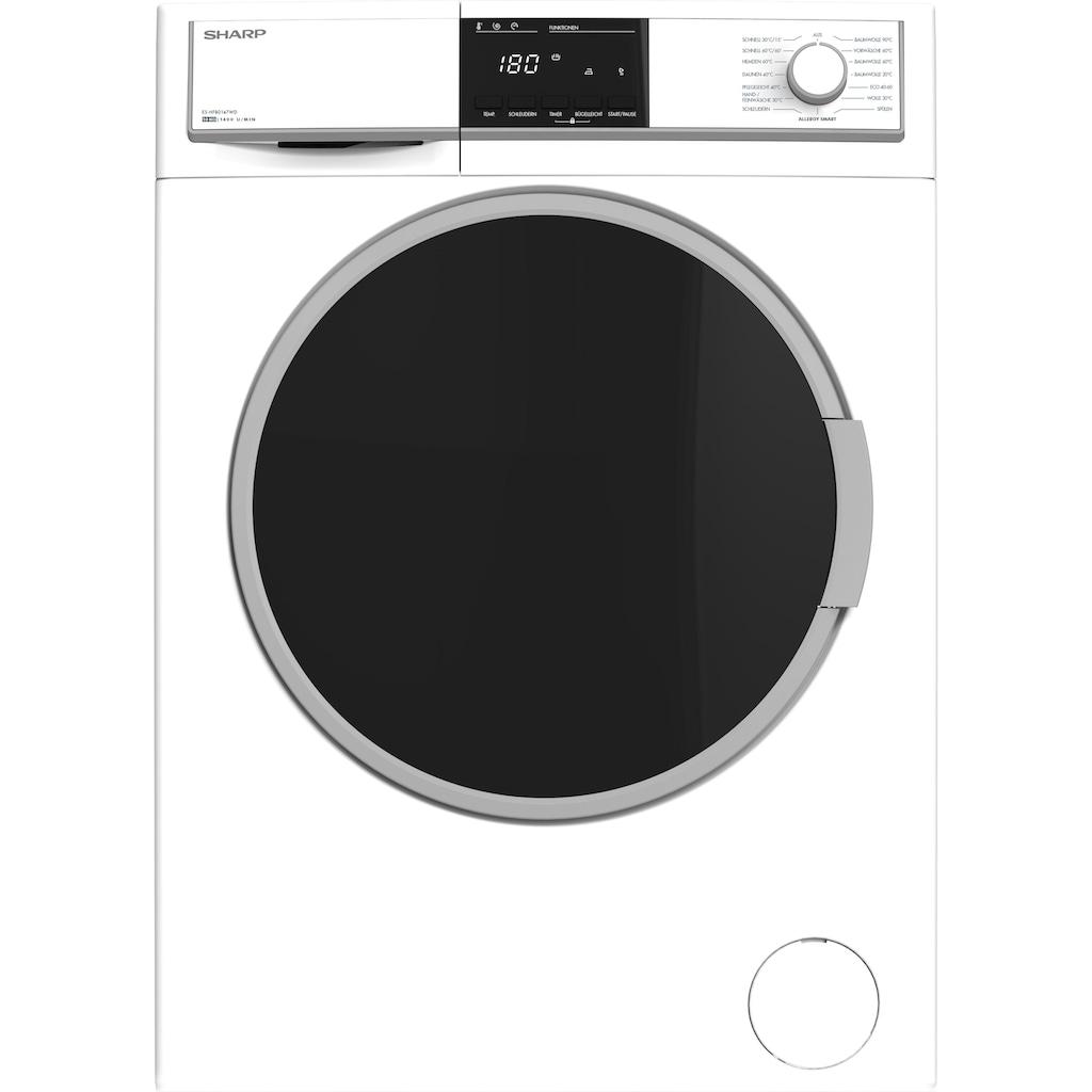 Sharp Waschmaschine »ES-HFB0147WD-DE«, ES-HFB0147WD-DE, 10 kg, 1400 U/min