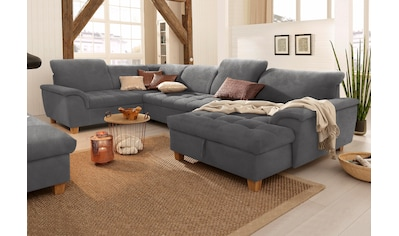 Home affaire Wohnlandschaft »Lyla«, wahlweise mit Rückenfunktion und zusätzlich mit Bett + Bettkasten kaufen