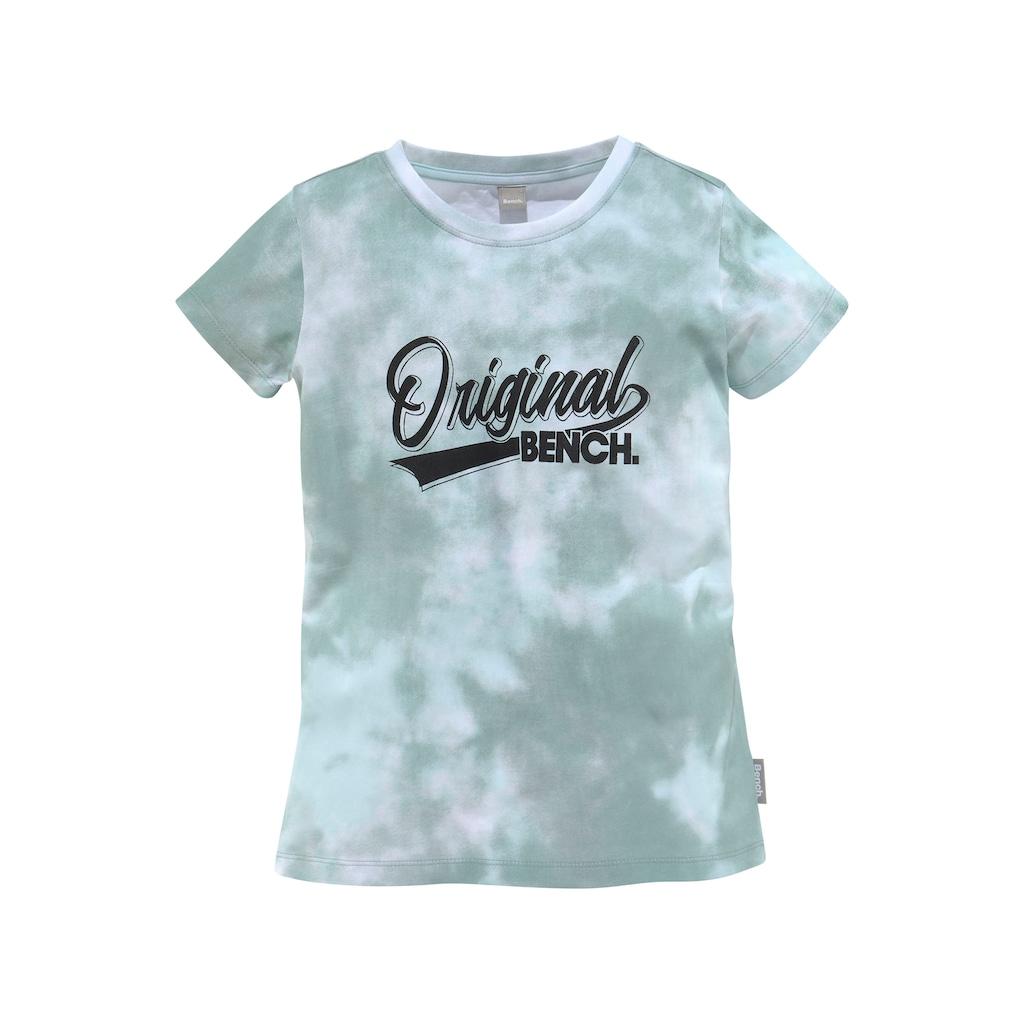 Bench. T-Shirt, mit frischem Batikmuster