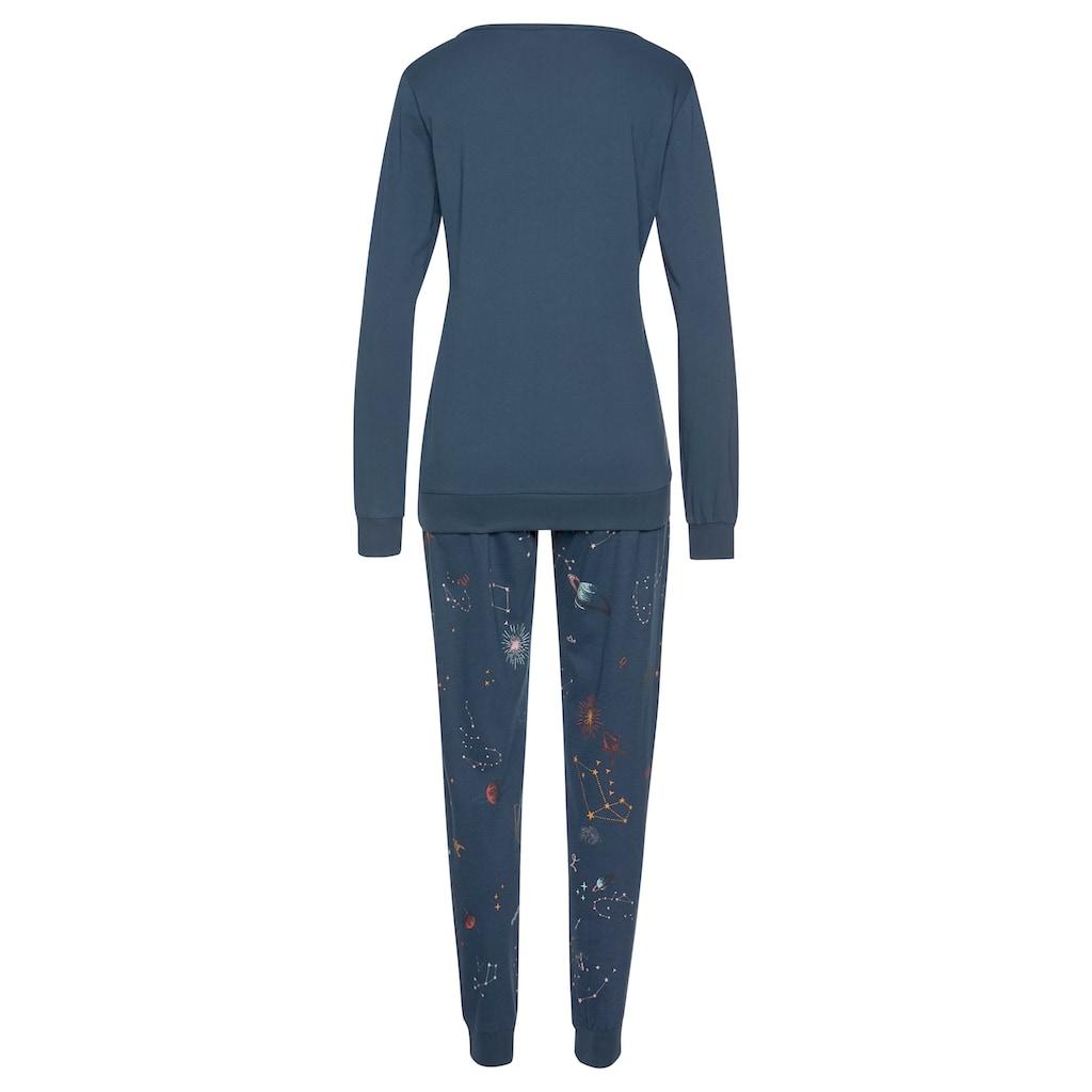 Vivance Dreams Pyjama, mit Galaxy-Print