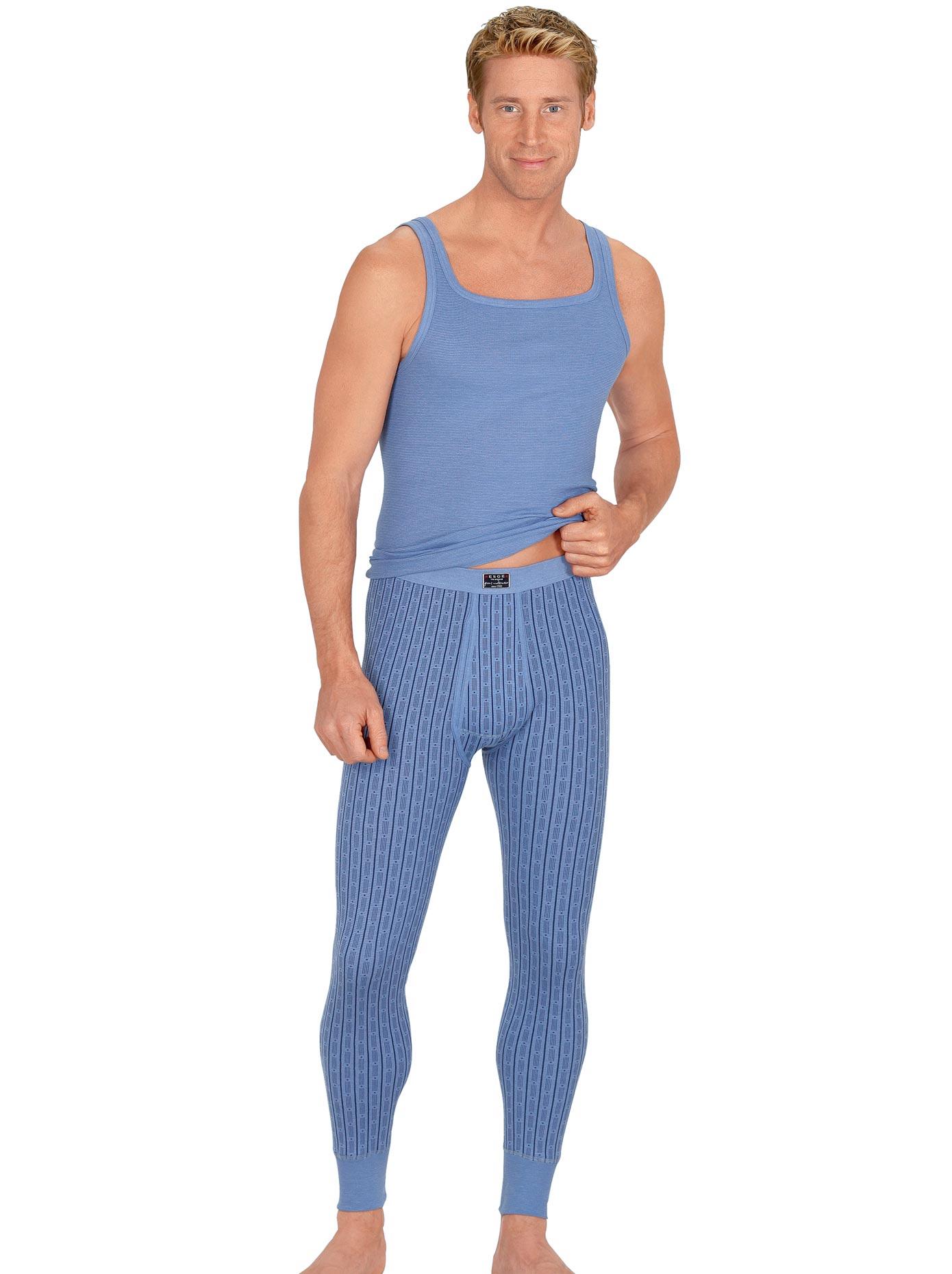 Esge Lange Unterhose, (1 St.) blau Herren Unterhosen Herrenwäsche Unterhose