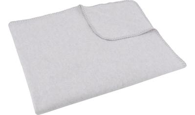 SETEX Wohndecke »Kuscheldecke«, mit Ziernaht in Melange-Optik kaufen