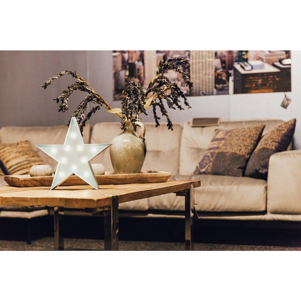 MARQUEE LIGHTS LED Dekolicht »Stern«, 1 St., Warmweiß, Wandlampe, Tischlampe Star mit 10 festverbauten LEDs - 31cm Breit und 31cm hoch