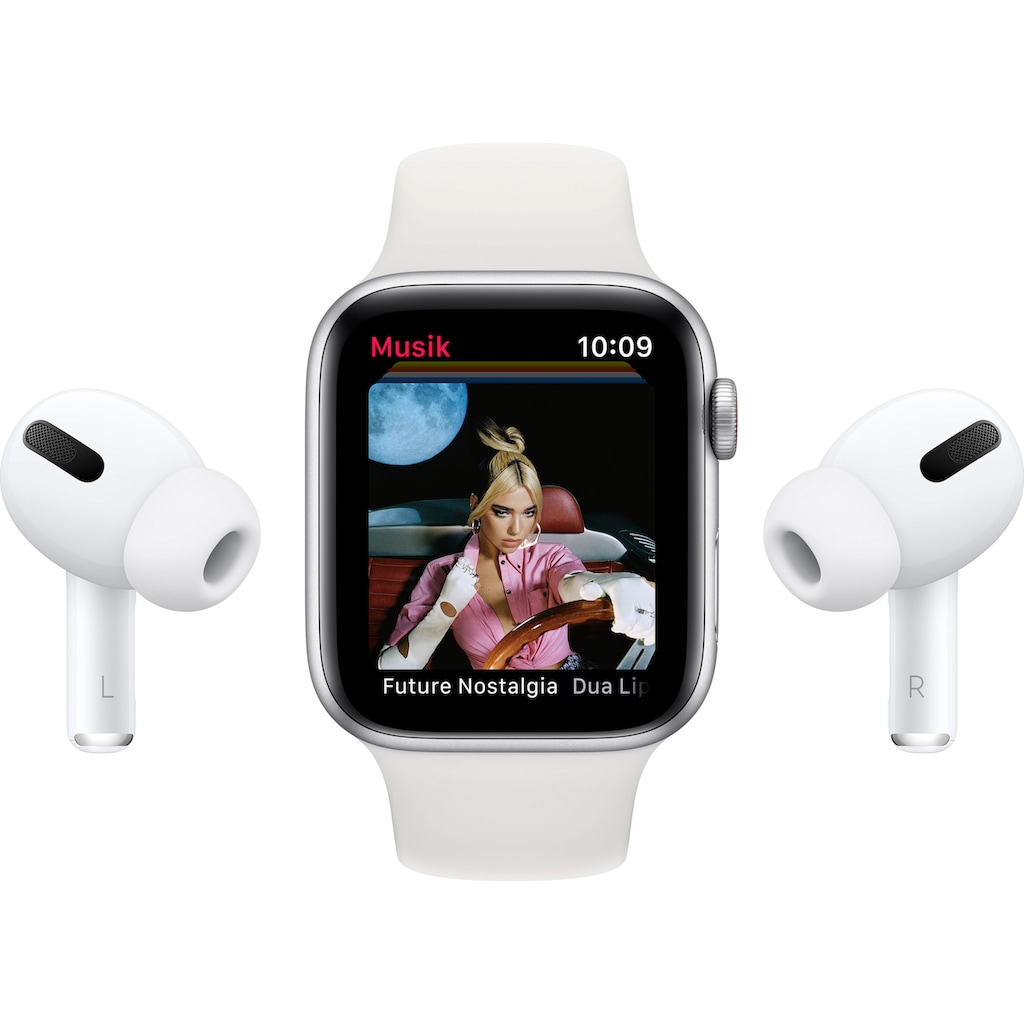 Apple Watch »SE GPS + Cellular, Aluminiumgehäuse mit Sport Loop 44mm« (, inkl. Ladestation (magnetisches Ladekabel)