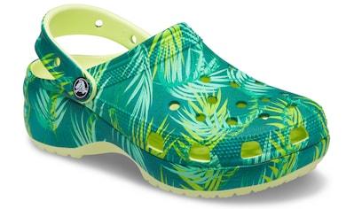 Crocs Clog »Classic Platform Tropical Clog W«, mit allover Dschungel-Print kaufen