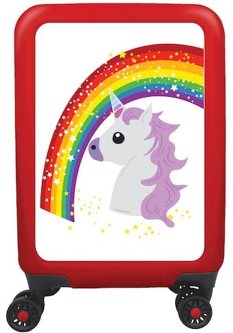 meinTrolley Hartschalen-Trolley »Einhorn Rainbow and Stars, 77 cm«, 4 Rollen, Made in... kaufen