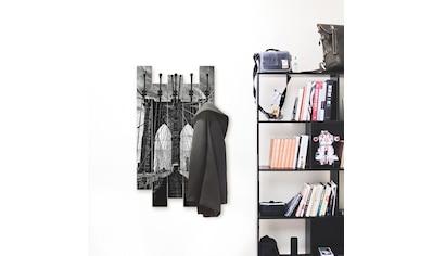 Artland Garderobenpaneel »Brooklyn Bridge  -  schwarz/weiss« kaufen