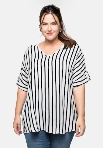 Sheego Tunika, mit Streifen in Oversize-Form kaufen