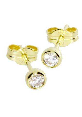 OSTSEE-SCHMUCK Paar Ohrstecker »- Anna 3 mm - Gold 333/000 - Zirkonia«, (2 tlg.) kaufen