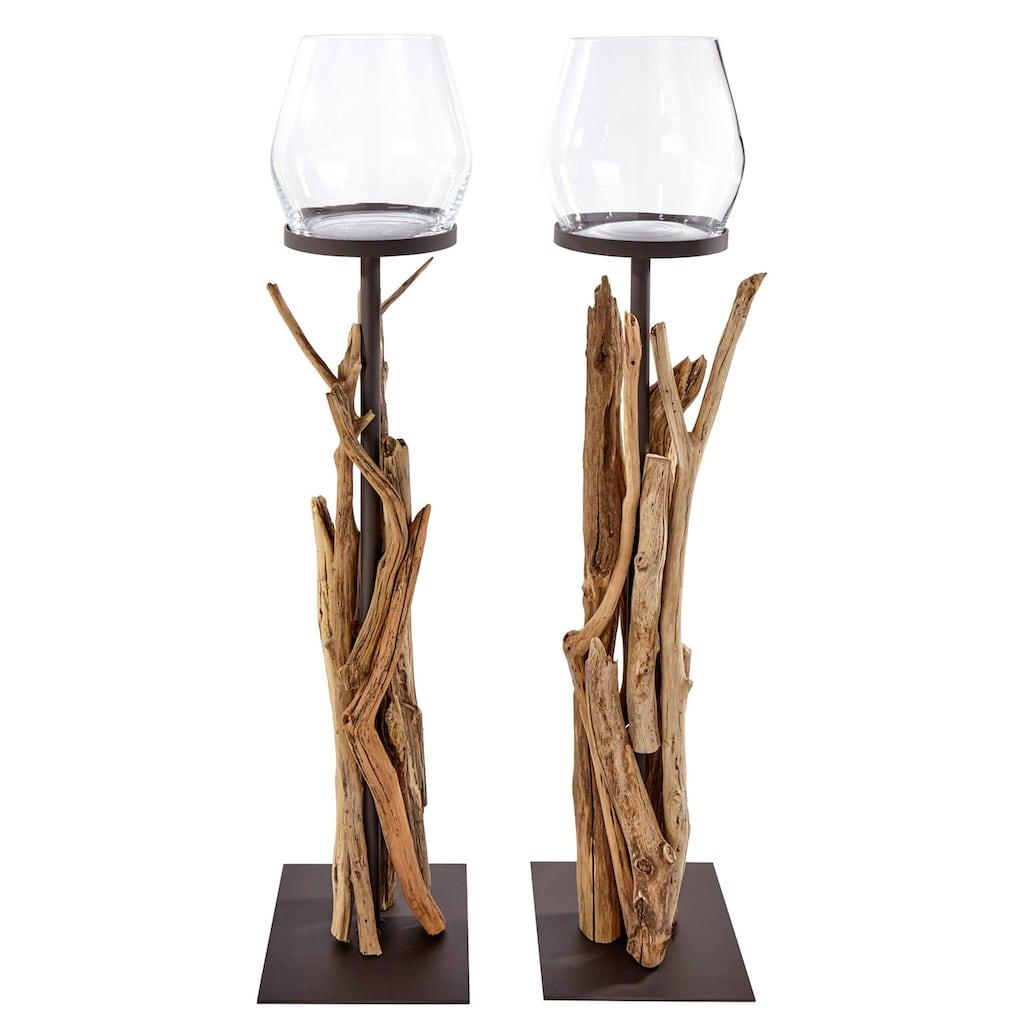 Bodenwindlicht mit dekorativem Altholz