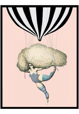 G&C Kunstdruck »Dancing with Balloon«, Luftballon, 33/43 c, gerahmt kaufen