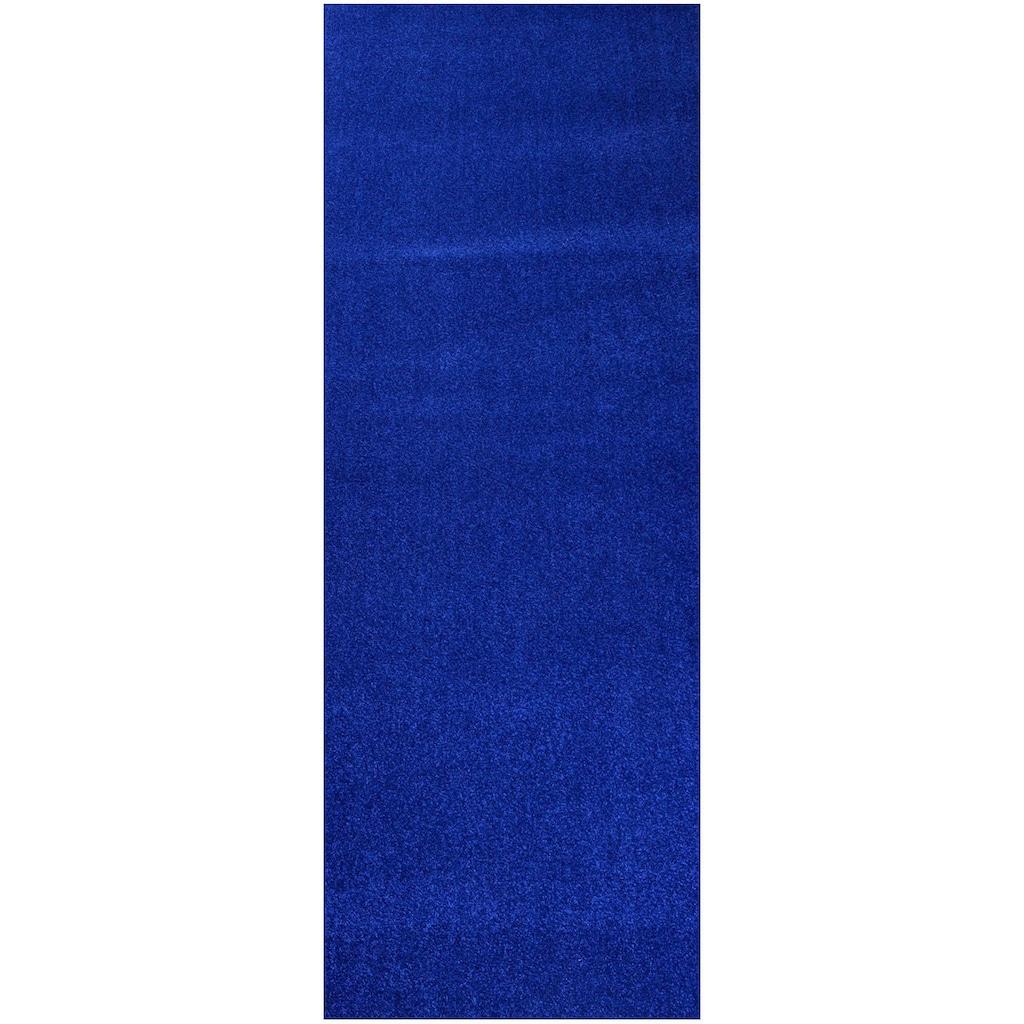 Living Line Läufer »Trend«, rechteckig, 8 mm Höhe, Teppich-Läufer, Velours, Uni-Farben